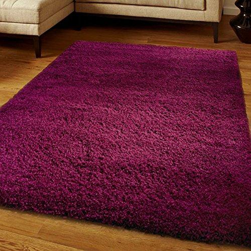 Think-Louder Lussuoso tappeto spesso e morbido, non perde pelo, con strato antiscivolo, Aubergine, 80cm x (Spesso Cucina Tappeti)