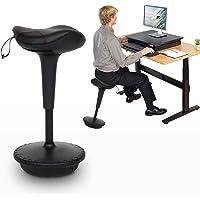 YU YUSING Sattelhocker Sattelstuhl Ergonomischer Bürohocker Arbeitshocker Gepolstert Höheverstellbar 360° drehbar,56-69…