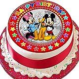 Cannellio Cakes Kuchendekoration Mickey & Minnie Mouse, vorgeschnitten, essbar, 19 cm, Rot