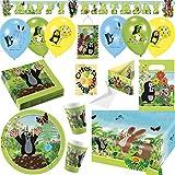 Der Kleine Maulwurf Krtek Little Mole Partyset mit Deko 94tlg. für 16 Kinder Teller Becher Servietten 2 Tischdecken Tüten Einladung Ballons Partykette Zuglaterne