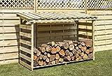 Registro de madera tratada madera - tienda - grandes o de tamaño normal - secador para madera - para estufa de leña o la chimenea registros., large