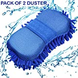Hugo Car Styling Glove Microfiber Washer Towel Duster For Cleaning Car Microfibre Chenile Duster With Glove & Grip. 2 in 1. Car Accessories. Useful for cleaning Car, Glass, Motorcycle, Bike, Mirror, Tile Etc.(Pack Of 2)