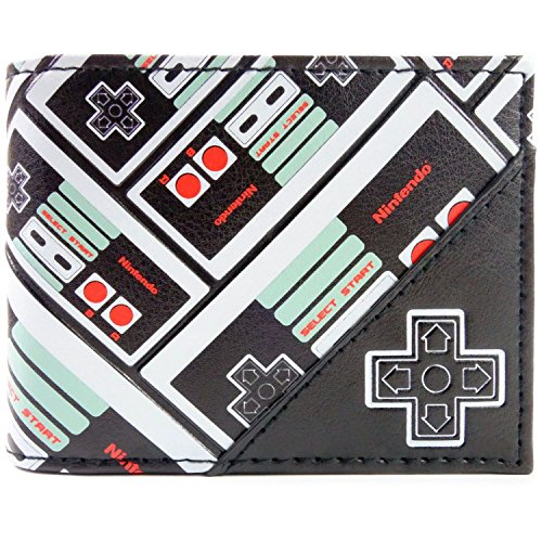 Cartera de Nintendo NES Estampado Negro