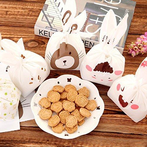 _ Sacchetti PEA Coniglio per i Biscotti Caramelle i Noci Carino Sacchetti da Confezione Natale per Uso in Compleanno e le Feste Natale 90 pezzi comprare on line