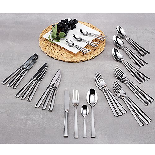 Edelstahl Besteck Set 40-teilig. für 10 Personen im Präsentbox • Besteckset Geschenk Camping Essbesteck Küche