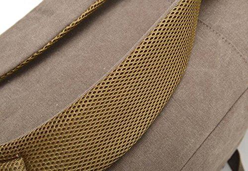MYLL Unisex Multifunzionale Zaino Canvas Shoulder Bag Neutral Black