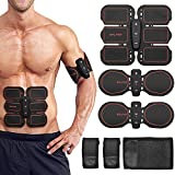BALFER Professionale EMS ABS Elettrostimolatore Muscolare Addominali Cinture per a Casa Donna Uomo Addome braccio Waist pettorali gambe glutei Trianing Massaggi-attrezzi Attrezzi