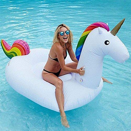 Giocattoli per piscina unicorno gonfiabile, portaoggetti galleggiante piscina, gigante unicorn pvc galleggiante, anello galleggiante baby unicorn(200 * 100 * 90 cm)