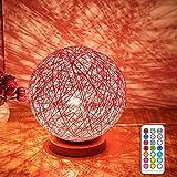 SKKMALL 1PC LED Lampe Nacht Lampen E27 10W RGBW Schreibtischlampe Schlafzimmer Nachttischlampe LED Lampen Moderne Romantische Nacht Lampen Tischlampen