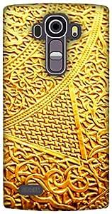 The Racoon Lean printed designer hard back mobile phone case cover for LG G4. (golden int)