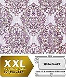 3D Barock Tapete XXL Vliestapete EDEM 648-92 Prunkvolles Damast-Muster lila violett flieder bronze dezente glitzer 10,65 m2