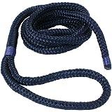 Cabo Boot Fenderkoppel | förtöjningslinje | Fenderrep | Rep 8, 10, 12 mm diameter med öga, 2 m eller 3 m lång, i mörkblå