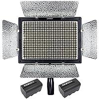 YONGNUO YN600L Pro de vídeo LED 5500K Luz para Canon Nikon DSLR DV de la cámara y videocámara con 2 Piezas de NAMVO NP-F770 batería y Cargador de batería
