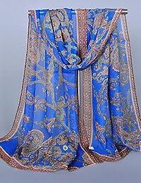 Bufanda Mujer Vintage / Fiesta / Trabajo / Casual-Raso , royal blue