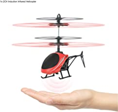 Zest 4 Toyz Mini Infrared Induction Helicopters Hand Sensor Airplane Aircraft Kids Electric Toy Gift (No Remote Control) -Assorted Color