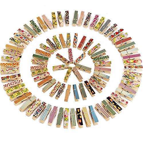 BIEE Mini 100 Piezas Foto Colorida Colorido Pinza