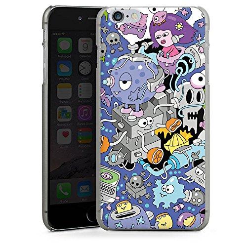Apple iPhone X Silikon Hülle Case Schutzhülle Comic Art Kunst Hard Case anthrazit-klar