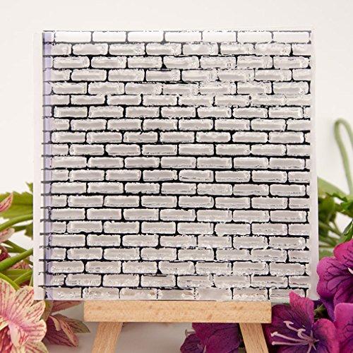 ECMQS Wall DIY Transparente Briefmarke, Silikon Stempel Set, Clear Stamps, Schneiden Schablonen, Bastelei Scrapbooking-Werkzeug