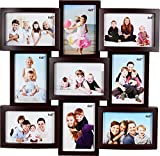 #1: JaipurCrafts Premium Collage Plastic Photo Frame (Photo Size - 4 x 6, 9 Photos) (Color- Wooden)
