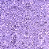 Ambiente Serviettes Lunch/Party 33x 33cm ELEGANCE Light Purple estampé/Embossed