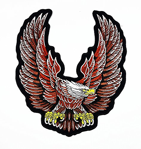 rabana XXL Eagle Hawk Rider Biker Motorräder Biker Patch für DIY Bone Ghost Hog Outlaw Hot Rod Motorräder Rider Lady Biker Jacket T Shirt Patch Sew Iron on gesticktes Badge Schild Kostüm