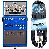 Boss CP-1X Kompressor Pedal für Gitarre + KEEPDRUM Gitarrenkabel 3m