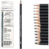 TOUARETAILS 14 Pcs/set Professional Art Sketching Drawing Writing Pencil1B 2B 3B 4B 5B 6B 7B 8B 10B 12B 2H 4H 6H Hb Pencil St