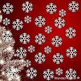 Wandschnörkel ® 30 Schneeflocken Snowflakes Aufkleber Fensteraufkleber/Schaufensteraufkleber Dekoration Fensterbilder Weihnachten Gestalten Sie Ihre Fenster mit diesen wunderschönen Stickern