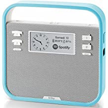 Smart Portable Speaker with screen compatible with Amazon Alexa, Blue