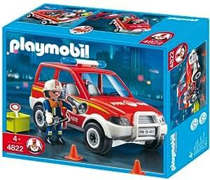 PLAYMOBIL 4822 - Feuerwehr-Kommandowagen: Amazon.de: Spielzeug