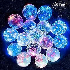 Idea Regalo - di fiori stampati trasparenti LED Palloncini di festa illuminati Glow in the Dark Balloons Decroation Party Bulk per Natale, Celebrazione, Compleanno, Matrimonio, Lasts12-24H (45 + 5PCS gratis)