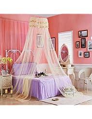 BUSL techo de cúpula pequeñas redes rotación de 360 ??grados de la princesa del cordón de mosquiteros estudiante carpa para dormir . beige