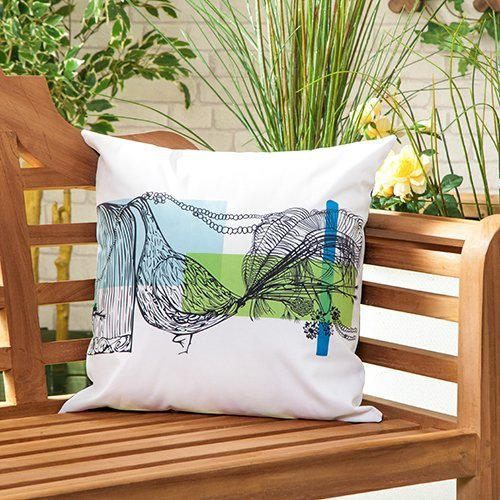 Cojín relleno de Shopisfy para exteriores resistente al agua para muebles de jardín,...