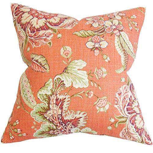 The Pillow Collection Eluned Floral Bettwäsche-Set, Orange Queen/20