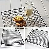Vassoio rettangolare per torte, antiaderente, per biscotti, torte, forno 26 * 23cm Come da immagine