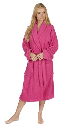 Forever Dreaming Ladies Towelling Dressing Gown Bathrobe: Amazon ...
