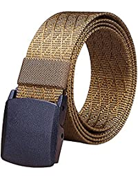 Fairwin Cintura Tattica in Tela in Stile Militare da Uomo, Tessuto in Nylon Cintura con Fibbia in Confezione Regalo