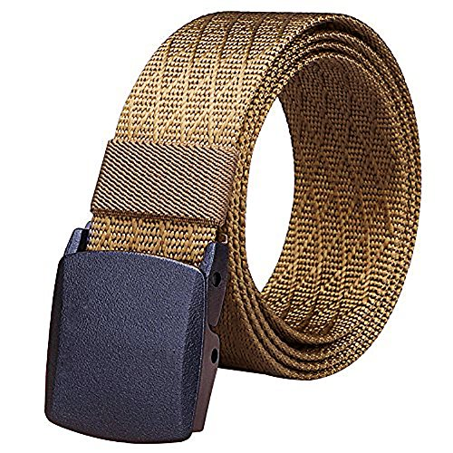 Fairwin Men's Military Style Tactical Web Belt, Nylon Canvas Webbing Buckle Belt