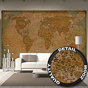 fototapete map of the world wandbild dekoration historische weltkarte weltkugel old school antik. Black Bedroom Furniture Sets. Home Design Ideas