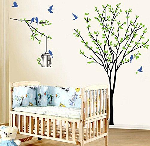 ZHFC- -le mur télé mur à l'arrière - plan des autocollants peut enlever la chambre des enfants, poupée 90cm arbre cage fresque de 60 *