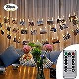 LED Foto clips Lichterketten, Skitic 2.5M Fernbedienung Batteriebetriebene Dimmbare Foto-Display Starry Lampe Stimmungsb