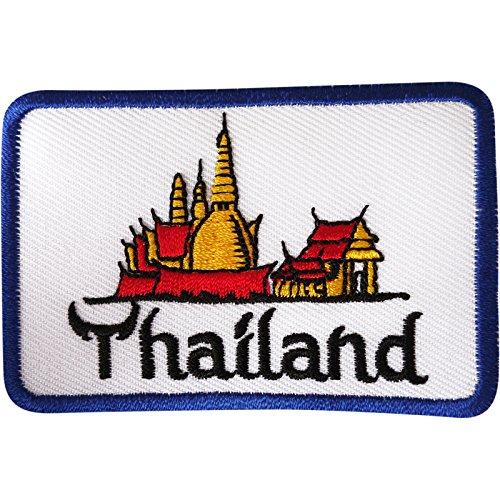 Tailandia parche hierro coser ropa bordado insignia