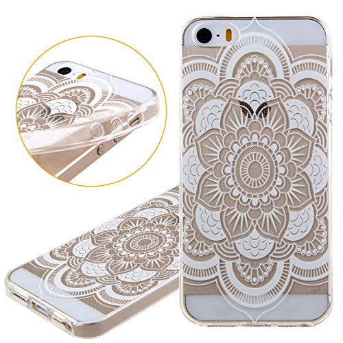 iPhone 6S Hülle,iPhone 6 Hülle [Scratch-Resistant],iPhone 6S 6 Hülle 4.7, ISAKEN iPhone 6S iPhone 6 4.7 Ultra Slim Perfect Fit Christmas Weihnachtstag Geschenk Muster Malerei TPU Clear Transparent Pro Blumen I
