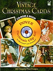 Vintage Christmas Cards CD-ROM and Book (Dover Electronic Clip Art) by Carol Belanger Grafton (2008-09-19)