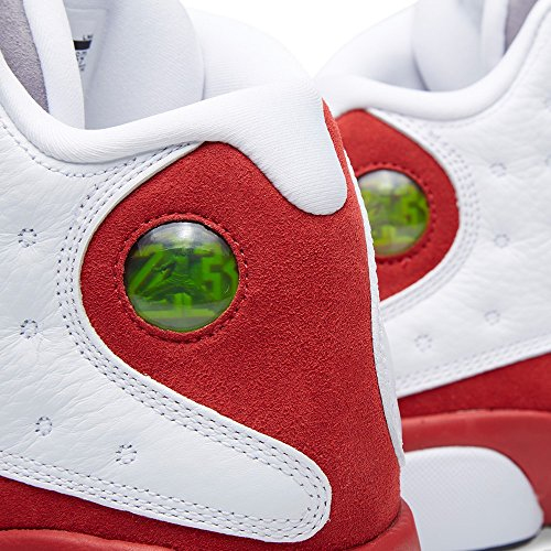 Nike Herren Air Jordan 13 Retro Turnschuhe, Schwarz Weiß / Schwarz / Rot / Grau (Weiß / Schwarz-True Red-cmnt Grau)