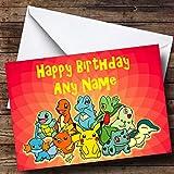 Gepersonaliseerde Rode Pokemon Verjaardagskaart