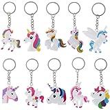 10pcs Licorne Porte-Clés Unicorn Design Accessoires de sac Pendentif Porte-clés pour femmes Enfants Filles