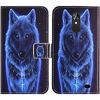 TienJueShi Lobo Book Style Funcion de Soporte Funda Caso Carcasa Proteccion Cuero Skin Case Cover Etui para Blackview A10 5 Inch