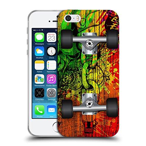 Head Case Designs Spritzer Skateboards Soft Gel Hülle für Apple iPhone 5 / 5s / SE Spritzer
