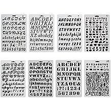ccmart plástico Bullet diario plantilla para juego de 8 con letras número alfabeto símbolo pecfect para